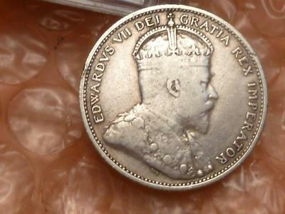CANADA 1910 Silver 25 Cents #A