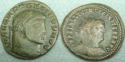 Lot Of 2 Roman Bronze Coins