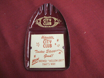 Vintage Schmidt's City Club Tip Tray-With Paper Insert
