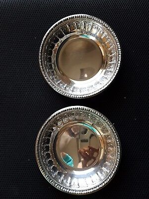 lot of 2 silver plated, Reed & Barton, candy/nut bowl/dish, # 1202, vintage, 6""