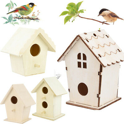 Bird House Nest Dox Wooden Nest House Bird Box Wood Birdhouse Garden Decor Home