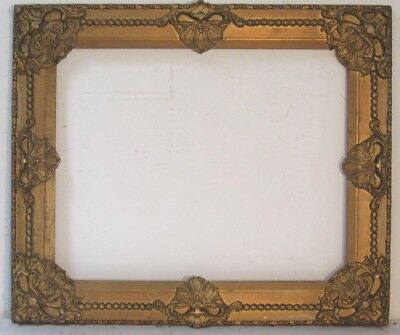 ANTIQUE   GREAT QUALITY GILT FRAME FOR PAINTING  20  X 16  INCH outside 26 x 122