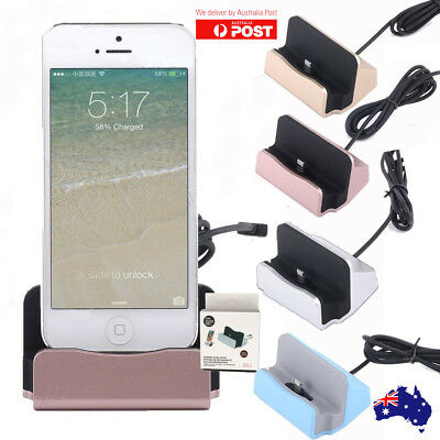 Sync Charging Dock Stand Charger Station Cradle w/Cable for iPhone 7 7 Plus 8 X