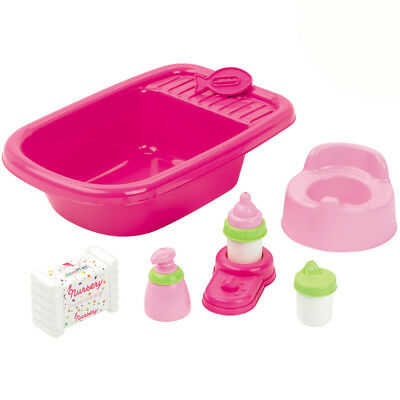 Puppen Badewanne Puppenflege Set Baby Center Zubehör Puppenwanne f. New Born etc