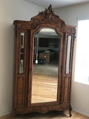Vintage French 1890-1900's Antique Carved Armoire