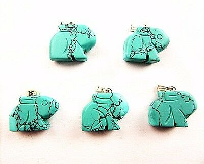 12PCS Wholesale mixed color different material carved rabbit pendant bead Vk4420