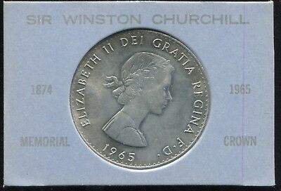 1965 Sir Winston Churchill Commemorative Crown in Display
