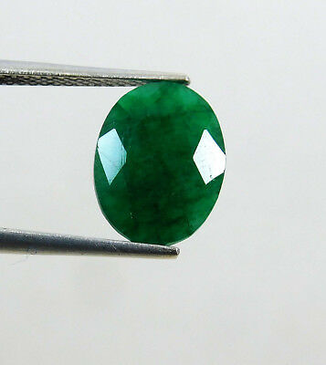 Natural 3.80 Cts. Beautiful Oval Cut Colombian Loose Emerald Gems. 10913 GH