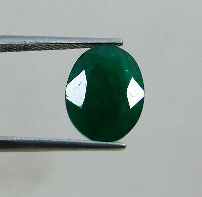 Natural 3.80 Cts. Beautiful Oval Cut Colombian Loose Emerald Gems. 10889 FG