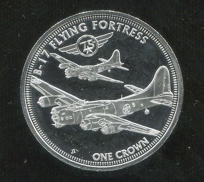2016 Tristan Da Cunha B-17 Flying Fortress Proof Commemorative Crown - Low Mint