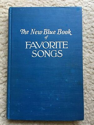 VINTAGE 1941 The New Blue Book of Favorite Songs SHEET MUSIC Church Hymnal HYMN