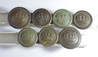 WWI German Empire buttons from uniforms of the Duchy of Prussia