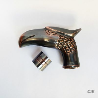 Royal Antique Solid Brass Eagle Head Handle For Walking Cane Halloween Offer