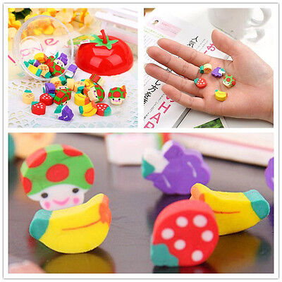 50pcs nice Mini Fruit Rubber Pencil Eraser For Children Kids Stationery/Gift/Toy