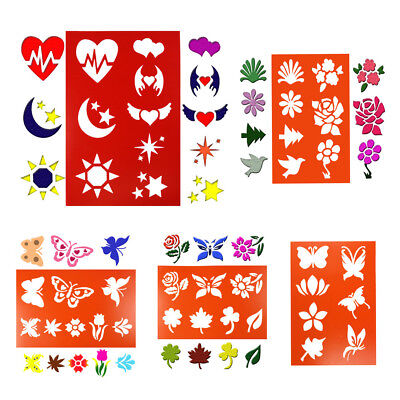 butterfly flower layering stencils spray template diy wall drawing card decor ST