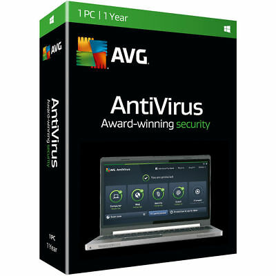 AVG Internet Security & Antivirus 2019 1 Device 1 Year Retail License (Download)