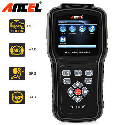 Ancel AD610 Elite OBD2 Auto Scanner ABS SRS SAS Read Reset Diagnostic Scan Tool