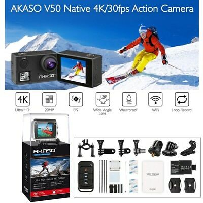 Original AKASO V50 Ultra HD 4K Action Carema WiFi 20MP Camcorder DVR Waterproof