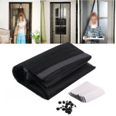 Newly Mesh Door Curtain Magnetic Fly Bug Anti Insect Mosquito Screen Drapes Z