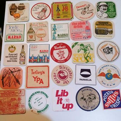 Bulk lot 280+ vintage DRINK COASTERS * TAA ANA * pubs beer clubs wines spirits +