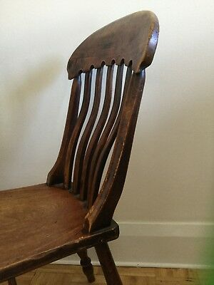 ~ Antique Wooden Chair ~ Unusual back~ strong and sturdy~