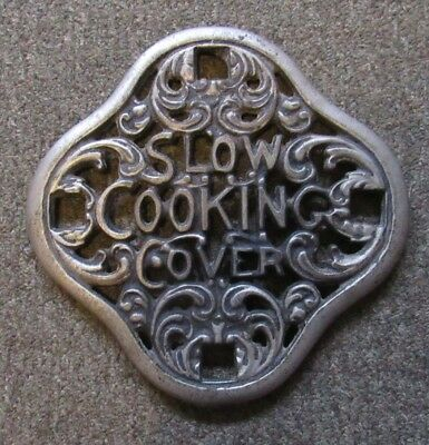 Antique 'Slow Cooking Cover' for cast iron kitchen stove