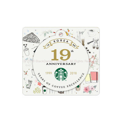STARBUCKS KOREA 2018 19th anniversary Die cut Gift Card