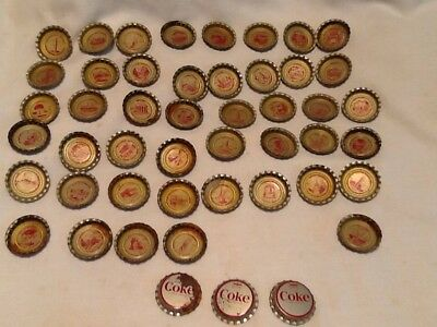 1963 Coca Cola US States Discover America Bottle Caps 48 Different Caps