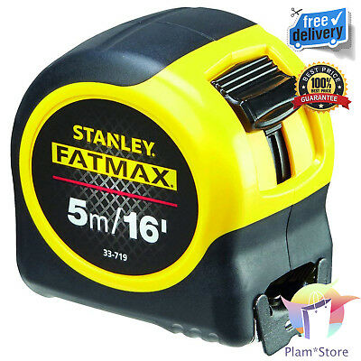 Fat Max Tape 5M/16Ft Stanley Multi Function Lock Extra Wide Blade Grip Non-Slip