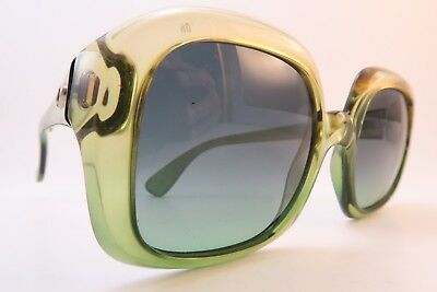 Vintage 60s Christian Dior sunglasses green optyl size 52-21 made in Germany EXC