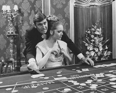 On Her Majesty'S Secret Service George Lazenby Diana Rigg At Casino Table Photo