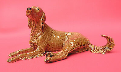Heredities The Charm of Creamware Irish Setter dog Figurine made in England