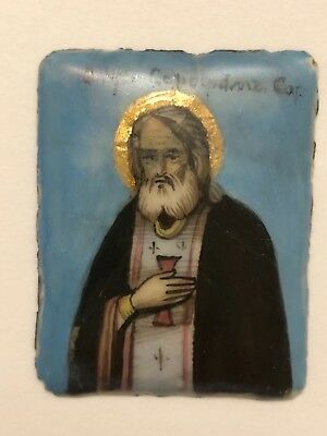 19th century Russian icon enamel antique Orthodox Icon Finift
