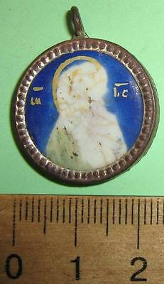 19th century Russian antique Orthodox Icon Finift Enamel