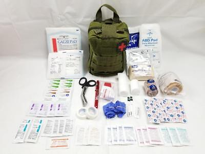 85 Piece Deluxe EDC IFAK Emergency First Aid Kit Pack w/ GreenRip Away MOLLE Bag