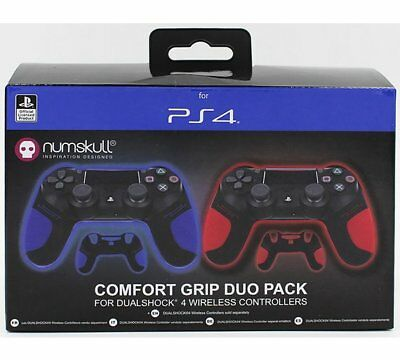PS4 Dualshock Silicone Grips 4 Pack Official Product Embossed PS Symbols NEW_UK
