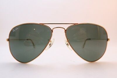 Vintage B&L Ray Ban aviator sunglasses 52-14 tinted etched BL glass lens USA