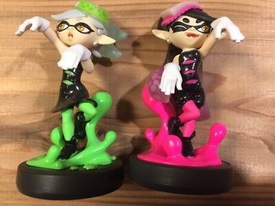 Nintendo amiibo Splatoon Squid Callie & Marie 2pc x 1set F/S from Japan