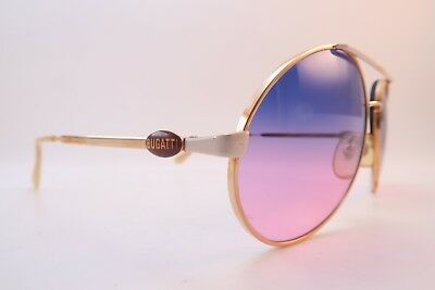 Vintage Bugatti sunglasses Mod 64319 made in France gradient tinted lens *****
