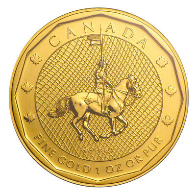 1 oz Gold Maple Leaf Mounted Police 2011 - 200 Dollar Kanada Goldmünze 999,99