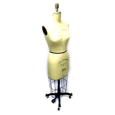 Fabulous Fit Female Size 8 2004 Pro Series Collapsible Dress Form w/ Short Stand
