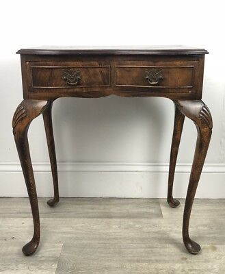 Reproduction Antique, Console Hallway Table Queen Anne Legs, Single Drawer JY71