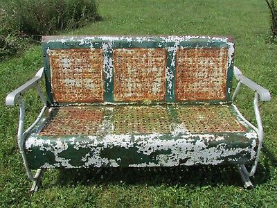 Vintage Metal Porch Glider Sy And Works Restoration Project