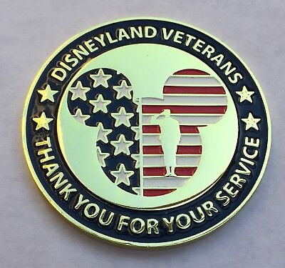 Limited Edition Disneyland Veterans Group Challenge Coin