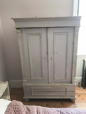 French Grey Distressed Painted cupboard
