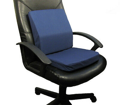 Dreamsweet Memory Foam Seat Cushion + Posture Aid Lumbar Support for Office, C4N