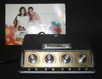 Vtg 60s Relaxacizor Quack Medicine Weight Loss Electrical Stim Unit -Mad Men