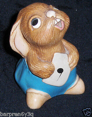 Vtg Bunny Figurine Hand Painted Stonecraft by Pendelfin 'Rolly' Rabbit England