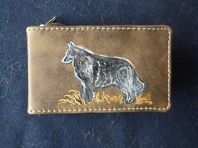 Belgian Sheepdog- Hand engraved Leatherette Manacure Set by Ingrid Jonsson