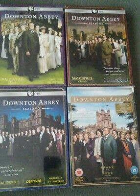 Downton Abbey Seasons 1-4 Dvd PBS Masterpiece Original U.K. Edition New & Sealed